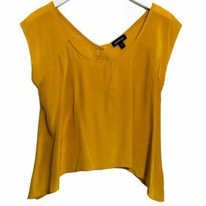 bebe Mustard Yellow Crop Top Size S